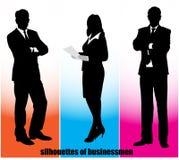 Silhouette businessman Stock Photos