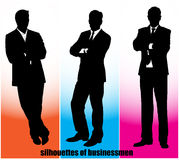 Silhouette businessman Royalty Free Stock Photography