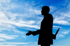 Silhouette of a businessman Stock Photography