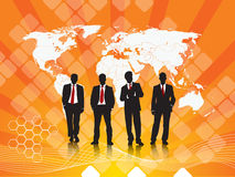 Silhouette of businessmen Royalty Free Stock Photography