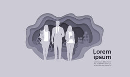 Silhouette Businesspeople Group Business Man And Woman Team Royalty Free Stock Image