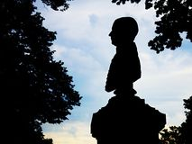 Silhouette busts Royalty Free Stock Photography