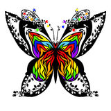 Silhouette of a butterfly. Royalty Free Stock Images
