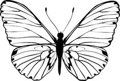 Silhouette of butterfly Stock Photos