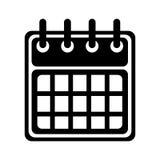 Silhouette of calendar icon Royalty Free Stock Photo