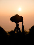 Silhouette of camera Stock Image