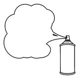 Silhouette can of spray paint icon Stock Photography