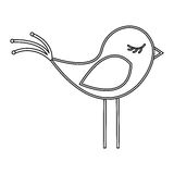 silhouette canary icon stock Stock Image