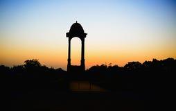 Silhouette of canopy India Gate at rajpath, new delhi Stock Photo