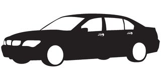 Silhouette of car stock illustration