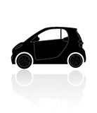 A silhouette of a car. With reflection Royalty Free Stock Images