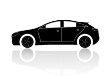 A silhouette of a car. With reflection Stock Photo