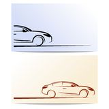 Silhouette of car. Abstract cars Royalty Free Stock Photos