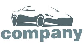 Silhouette of the car company logo. Silhouette car logo company or for site Royalty Free Stock Photos