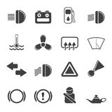 Silhouette Car Dashboard Royalty Free Stock Images