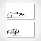 Silhouette of car Royalty Free Stock Images