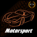 Silhouette of the car, icon automotive topics Stock Image