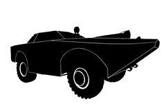 Silhouette of the car Stock Images