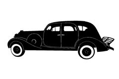 Silhouette of the car Royalty Free Stock Photography