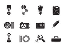 Silhouette Car Parts and services Stock Image