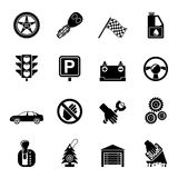 Silhouette Car and transportation icons Stock Photo