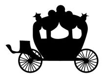 Silhouette of carriage Stock Image