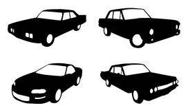 Silhouette cars Stock Image