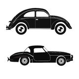Silhouette cars Stock Photo