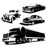 Silhouette cars. Stock Image