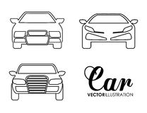 Silhouette cars set. Transportation design. Vector graphic Stock Photos
