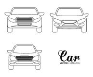 Silhouette cars set. Transportation design. Vector graphic Stock Image