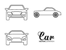 Silhouette cars set. Transportation design. Vector graphic Stock Images