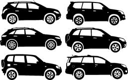 Silhouette cars, vector Stock Photos