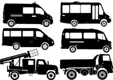Silhouette cars, vector royalty free illustration