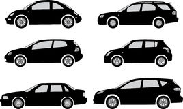 Car silhouettes Royalty Free Stock Images