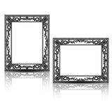 Silhouette carved frame for picture or photo Royalty Free Stock Images