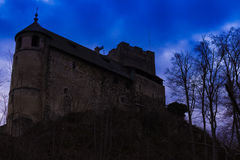 The silhouette of castle Gosting, Austria Stock Images