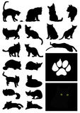 Silhouette of a cat Stock Photography