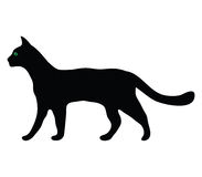 Silhouette of a cat Royalty Free Stock Image