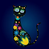 Silhouette of cat. Stylized silhouette of a cat Royalty Free Stock Photos