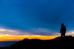 Silhouette in Catalonia Royalty Free Stock Photo