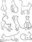 Silhouette of Cats. Royalty Free Stock Images