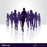 Silhouette catwalk. Silhouette Vector set of Catwalk girls Stock Photography