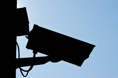 Silhouette CCTV, security camera Royalty Free Stock Photo
