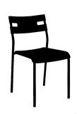 A silhouette of a chair Royalty Free Stock Images