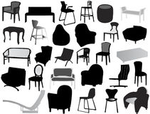 Silhouette of chair Royalty Free Stock Photography