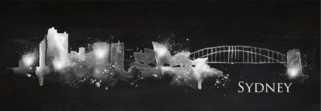 Silhouette chalk Sydney Royalty Free Stock Image