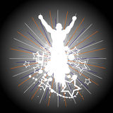 Silhouette of the champion. Vector Royalty Free Stock Photography