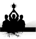 Silhouette of the champion Royalty Free Stock Images