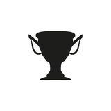 Silhouette of the Champions Cup. Icon  illustration. Silhouette  of the Champions Cup. Icon  illustration Royalty Free Stock Photos